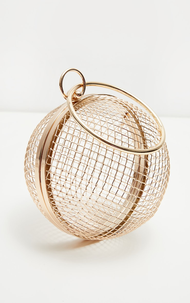 Gold Caged Sphere Clutch 3