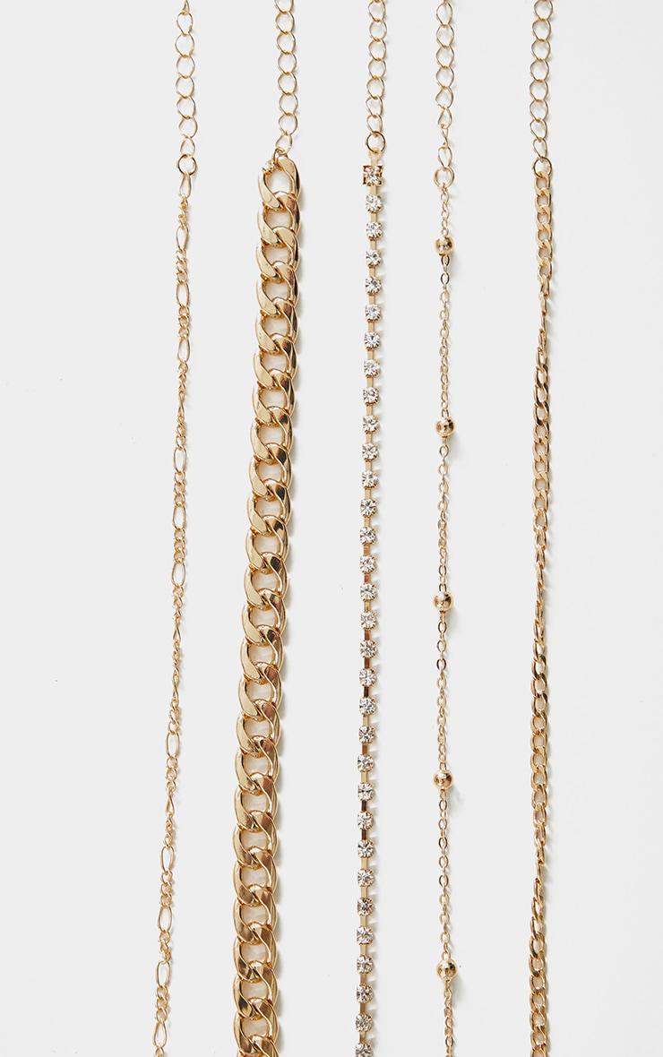 Gold Chain Multi Pack Bracelets 3