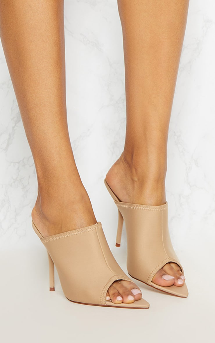 Taupe Extreme Point Mule  1