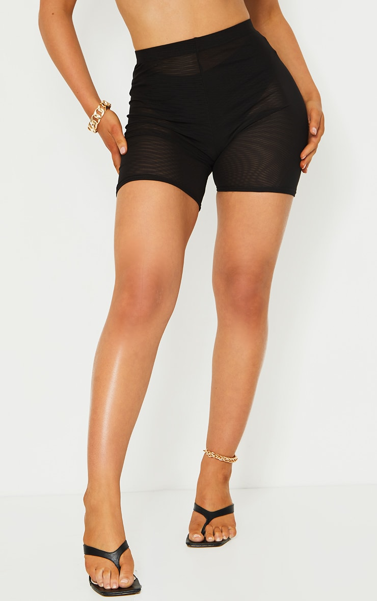 Black Mesh Layer Cycle Shorts 2
