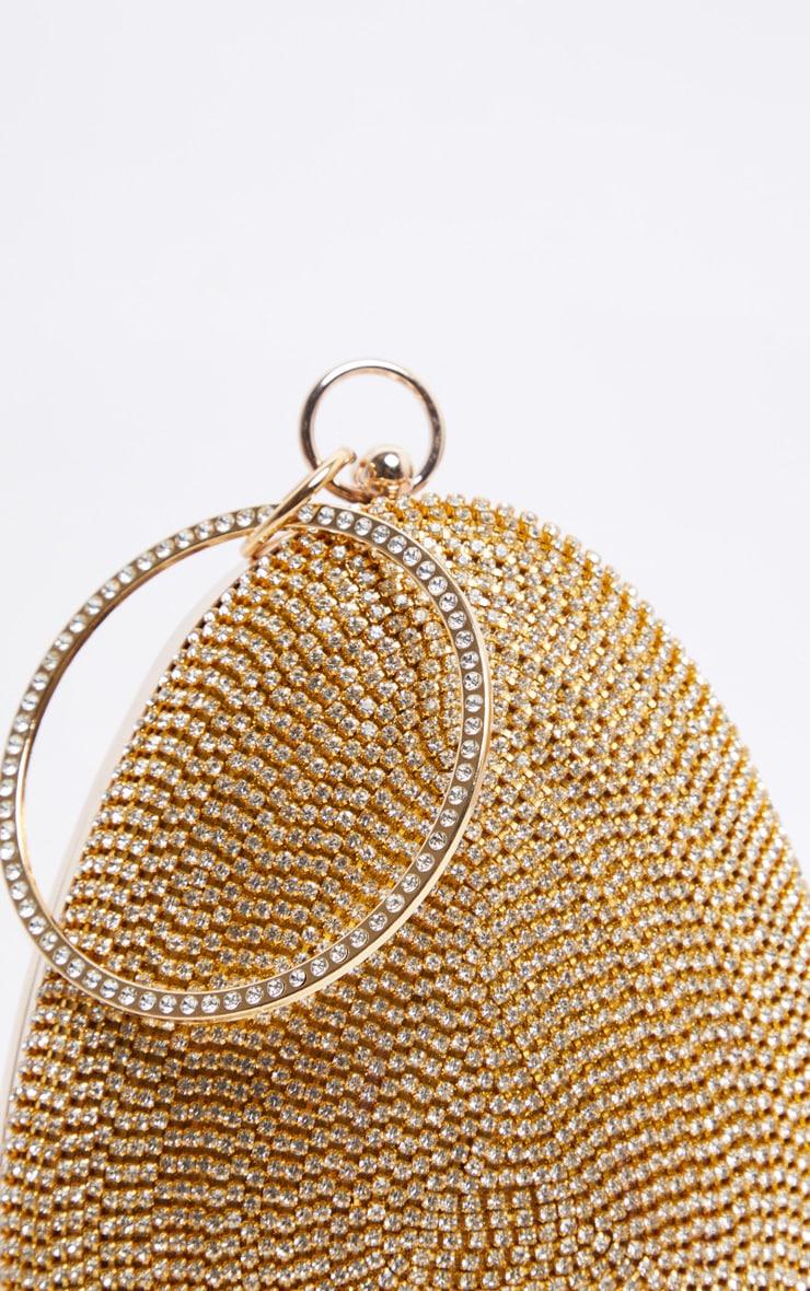 Gold Diamante Oval Bag 3