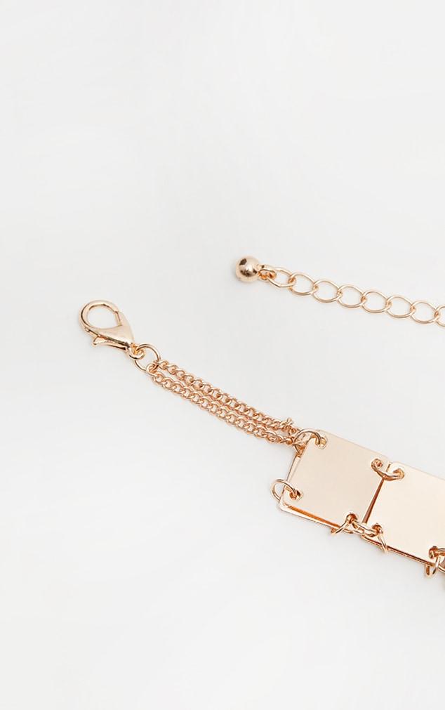 Gold Square Chain Choker 4