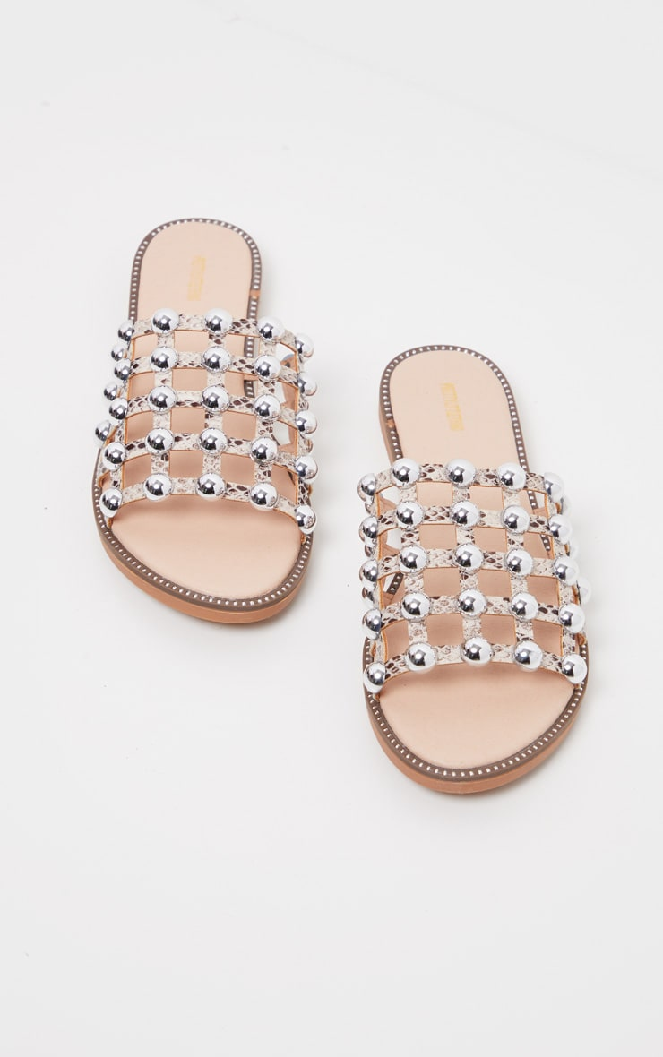 Snake Alisa Large Studded Sliders 1