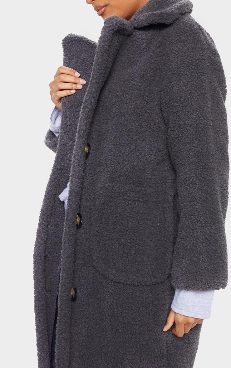 Charcoal Maxi Borg Coat 5