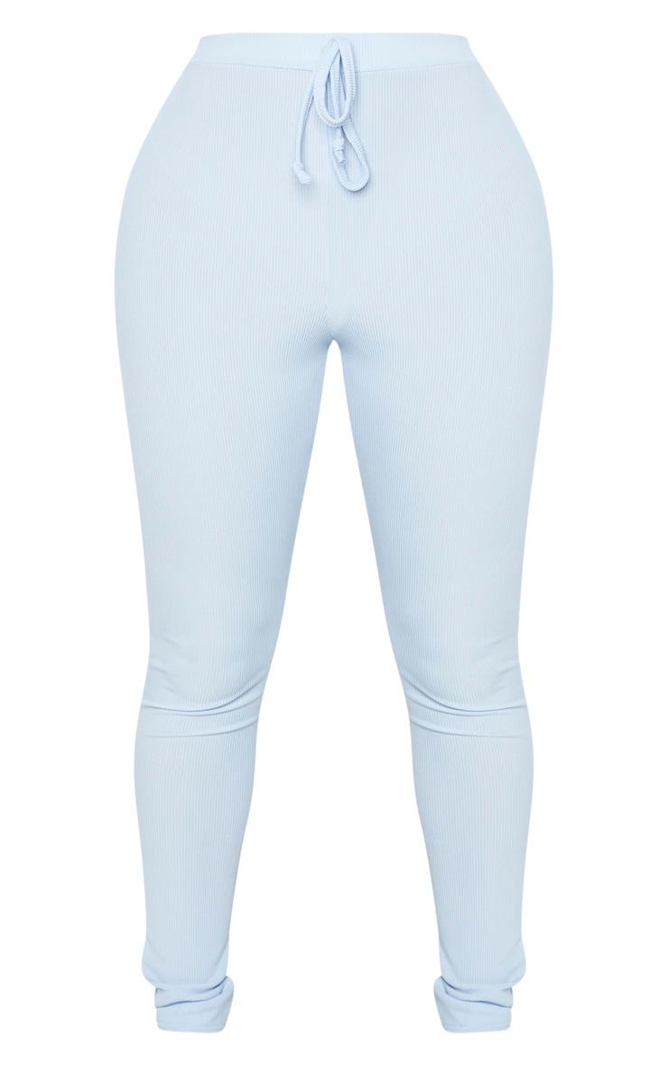 Shape - Legging bleu cendré côtelé taille haute 5