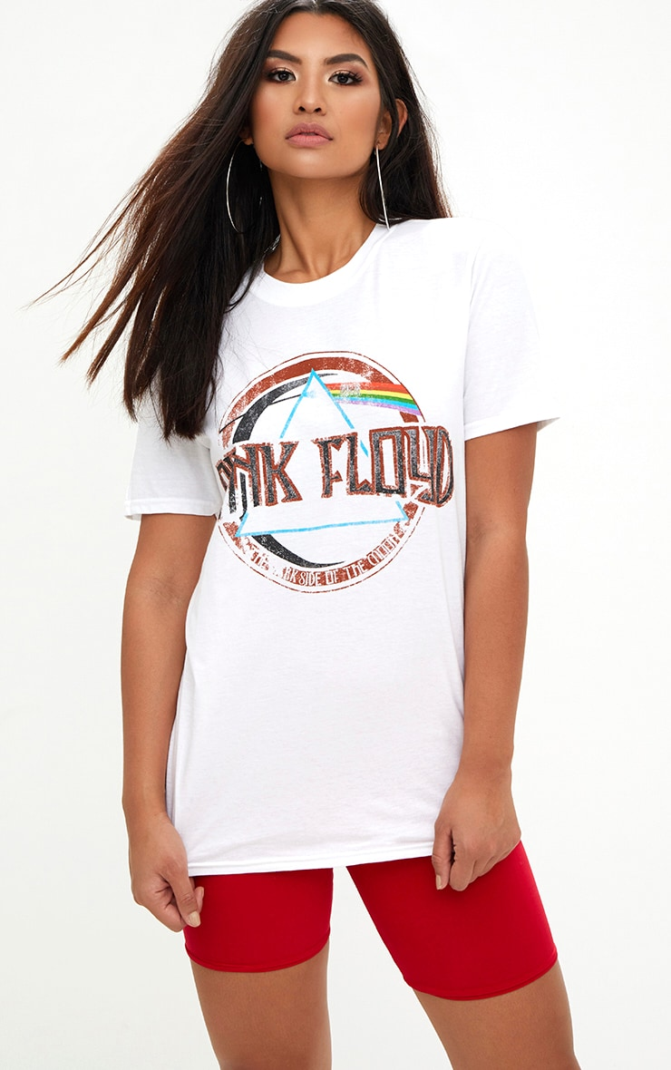 Pink Floyd Slogan White T Shirt 1