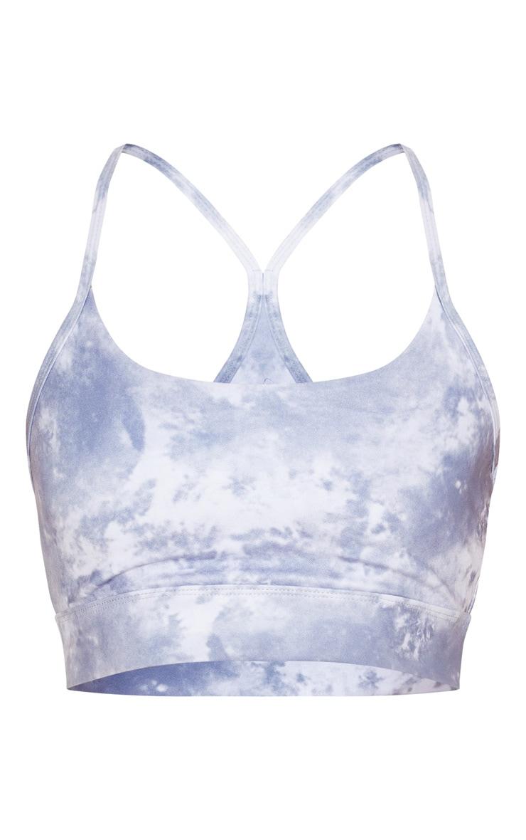 Blue Acid Elasticated Sports Bra 3
