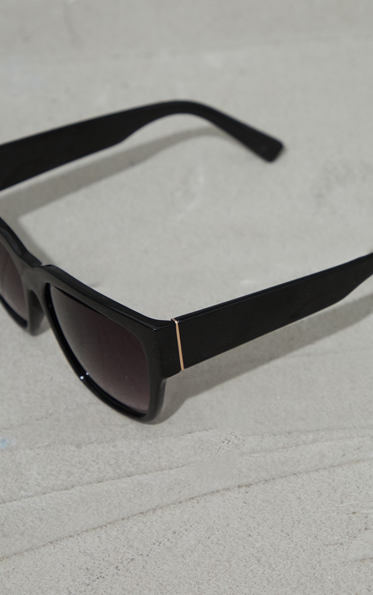 Black Recycled Plastic Oversized Square Sunglasses 3