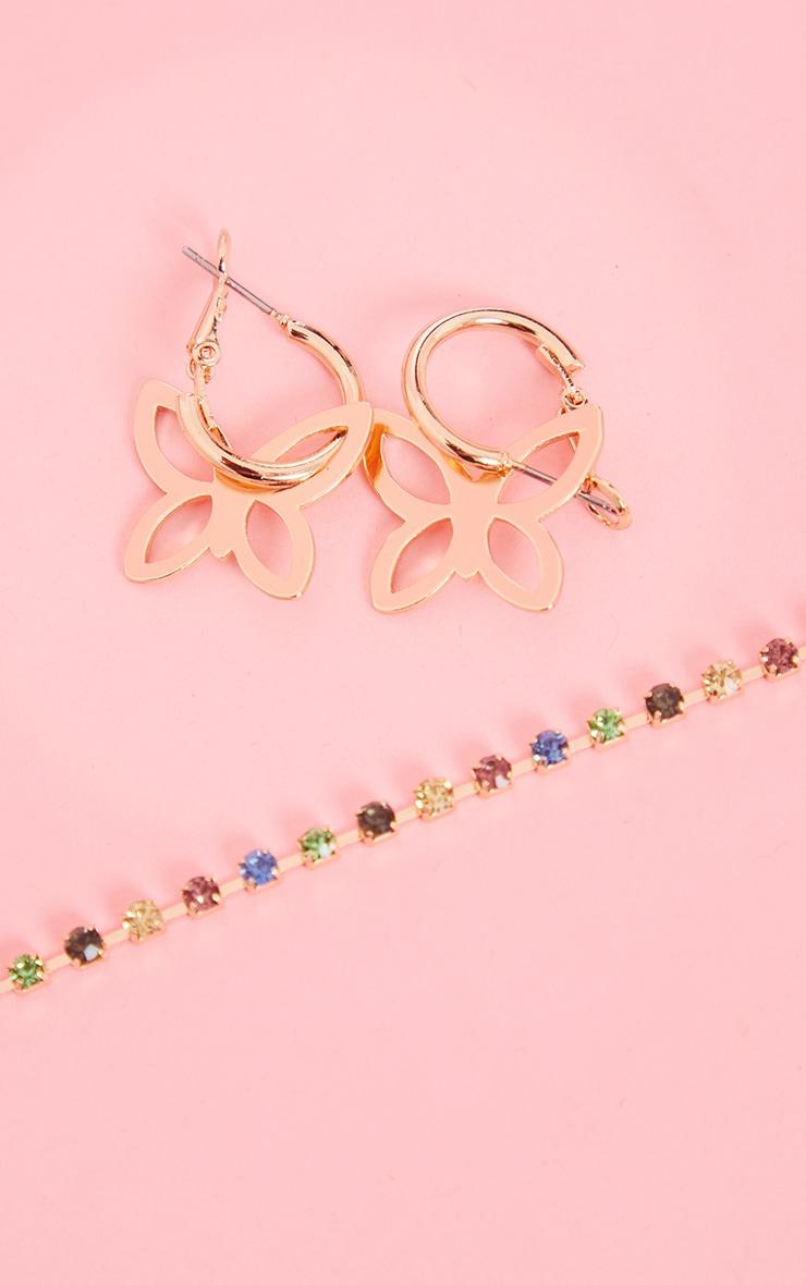 Gold Dainty Cut Out Butterfly Mini Hoop Earrings 3