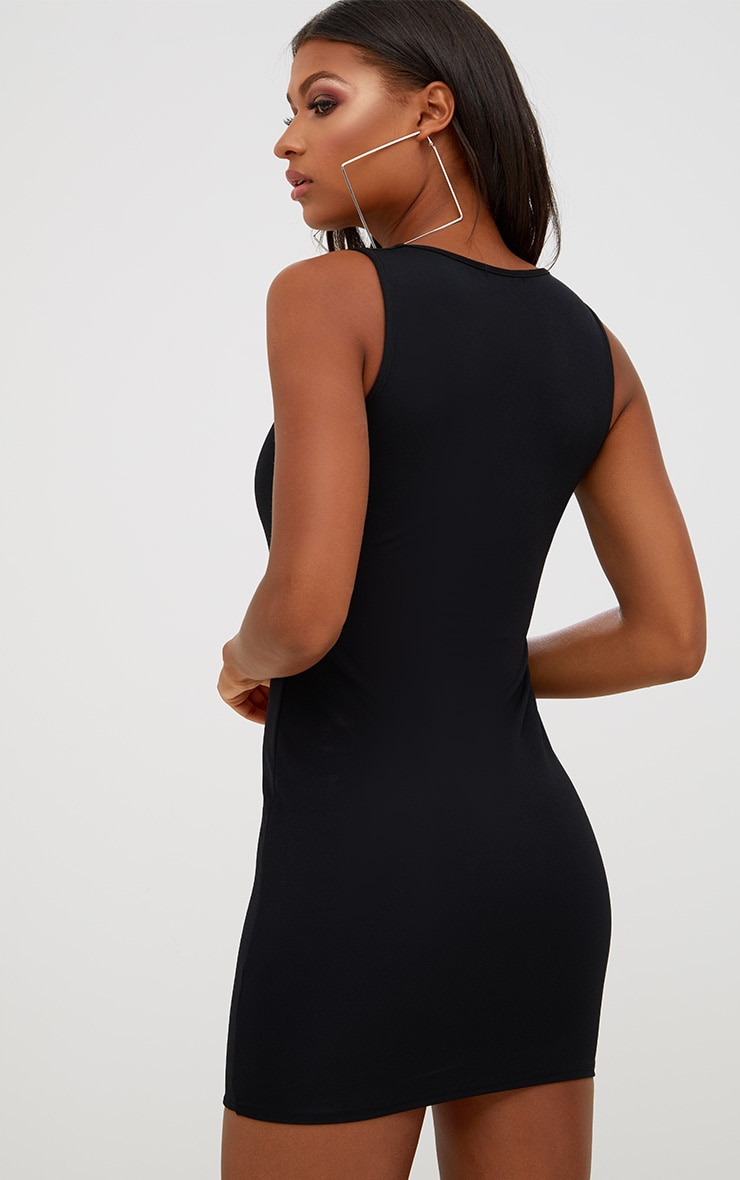 Black Eyelet Detail Bodycon Dress 2