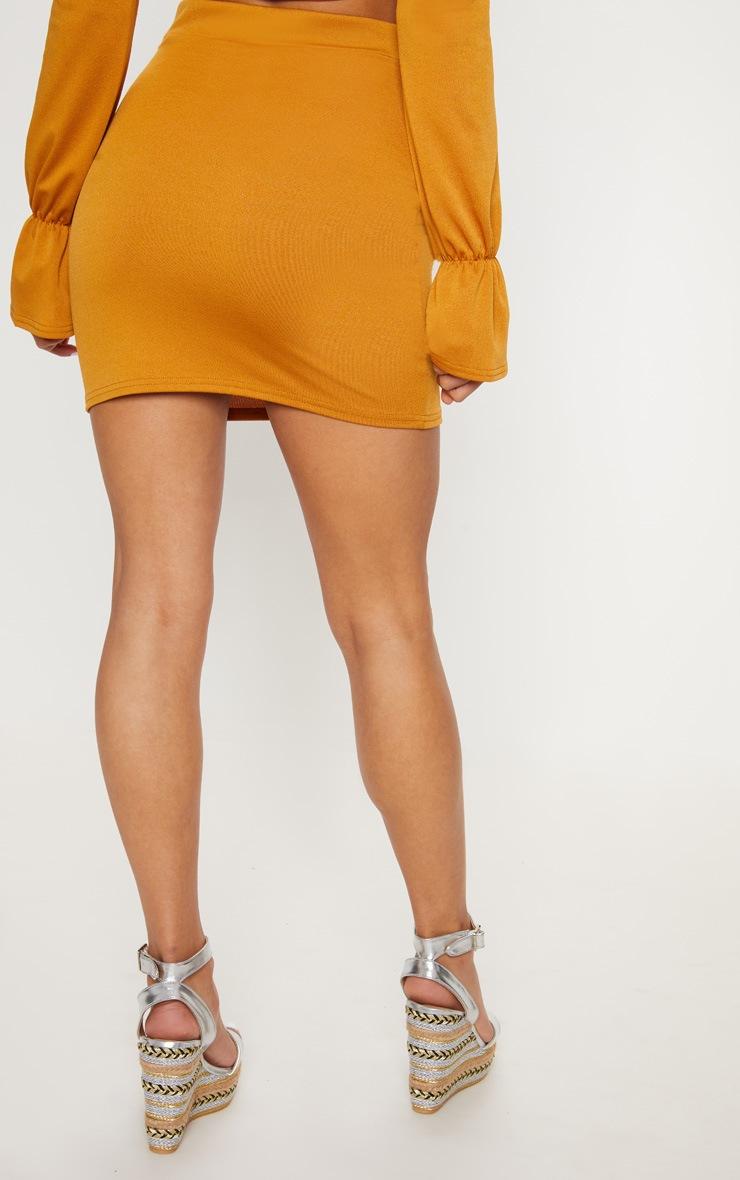 Mustard Mini Skirt 4