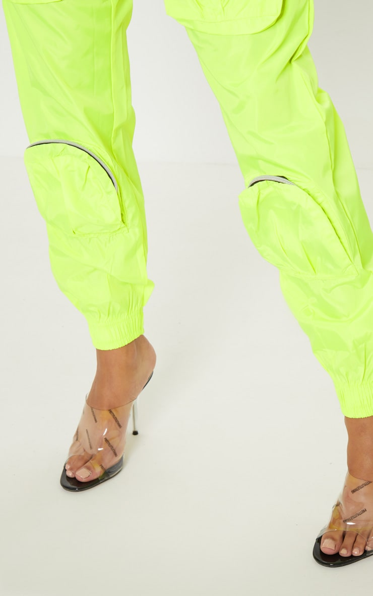 Neon Lime Shell 3D Pocket Detail Jogger 6