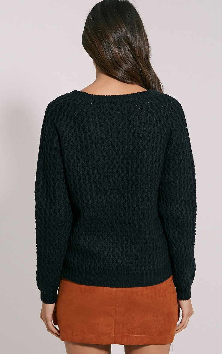 Jaylin Black Cable Knit Jumper 2