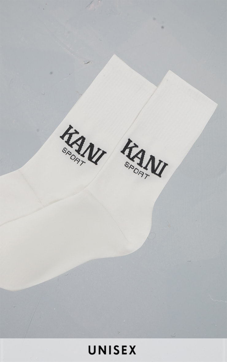 KARL KANI White Sport Socks 1
