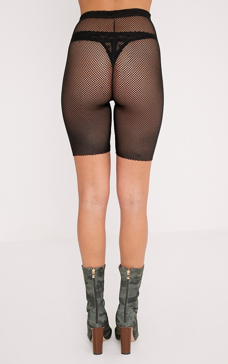 Alcina Black Fishnet Cycle Shorts 4