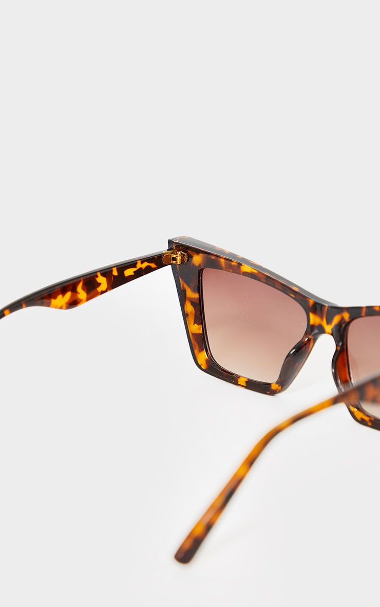 Brown Tortoiseshell Square Slim Cat Eye 3