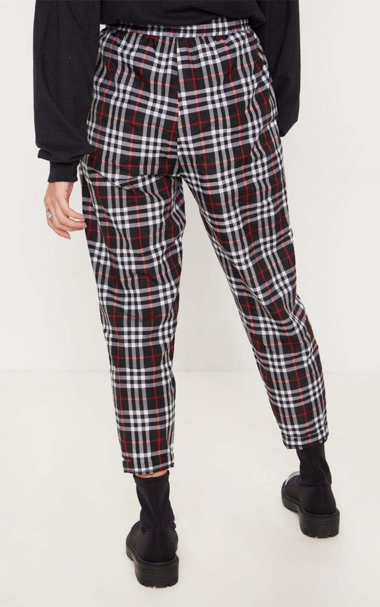 Black Checked Casual Pants 4