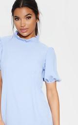Baby Blue High Neck Shift Dress 4