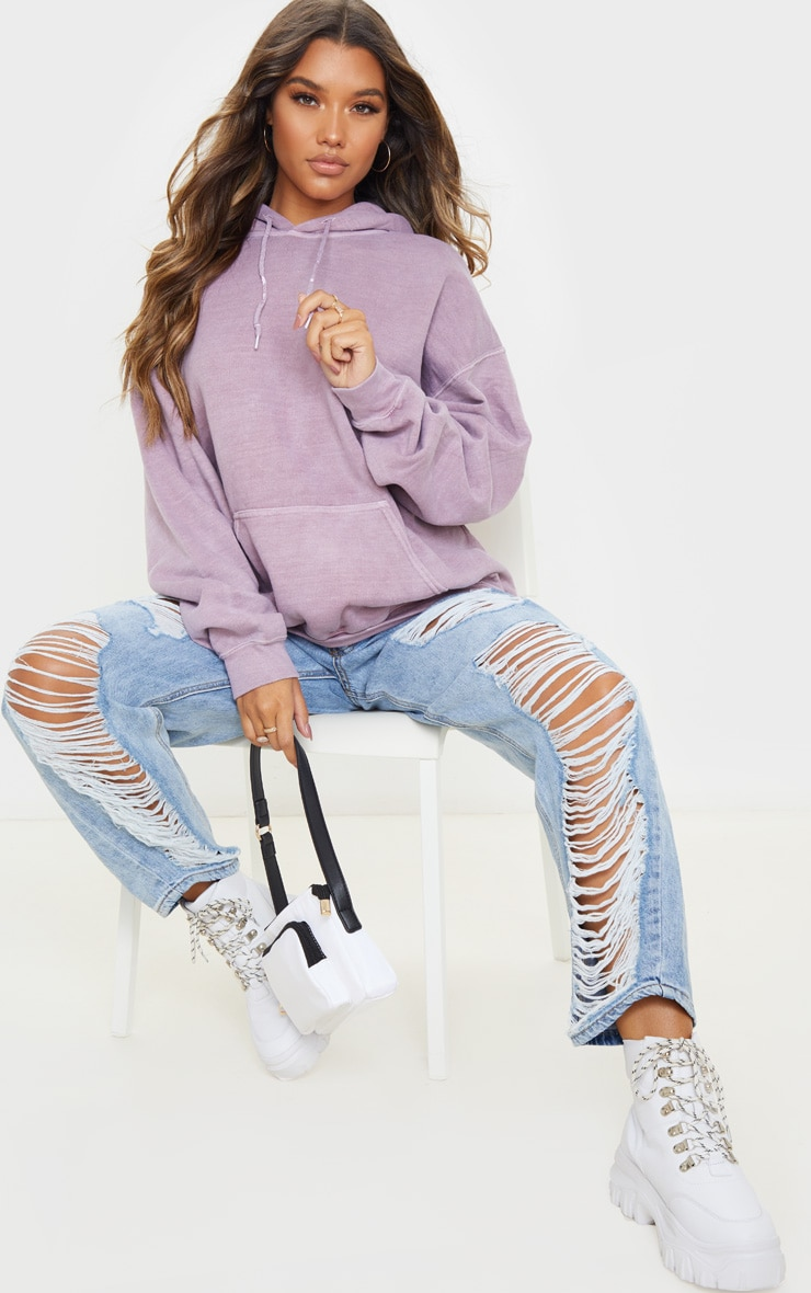 Dusty Lilac Washed Ultimate Oversized Hoodie 4