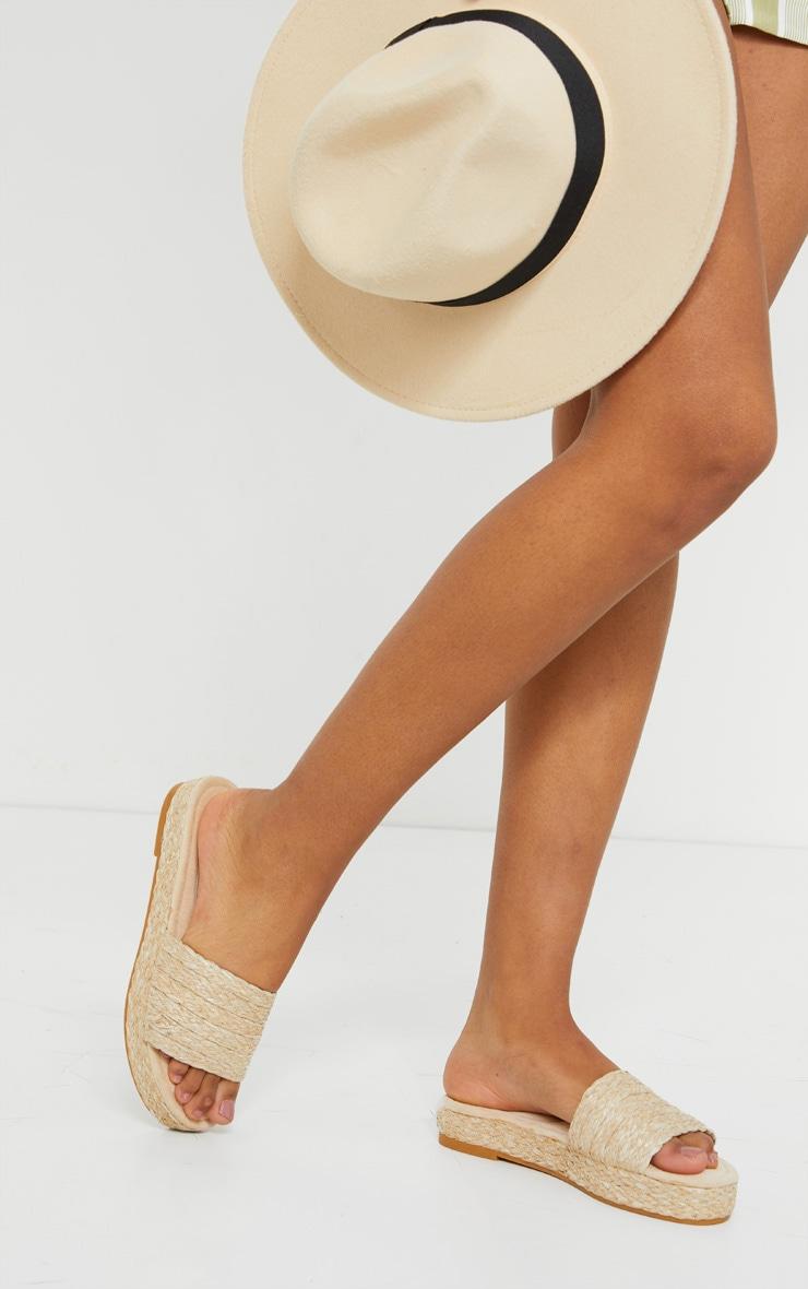 Natural Raffia Espadrille Mule Sandals 1