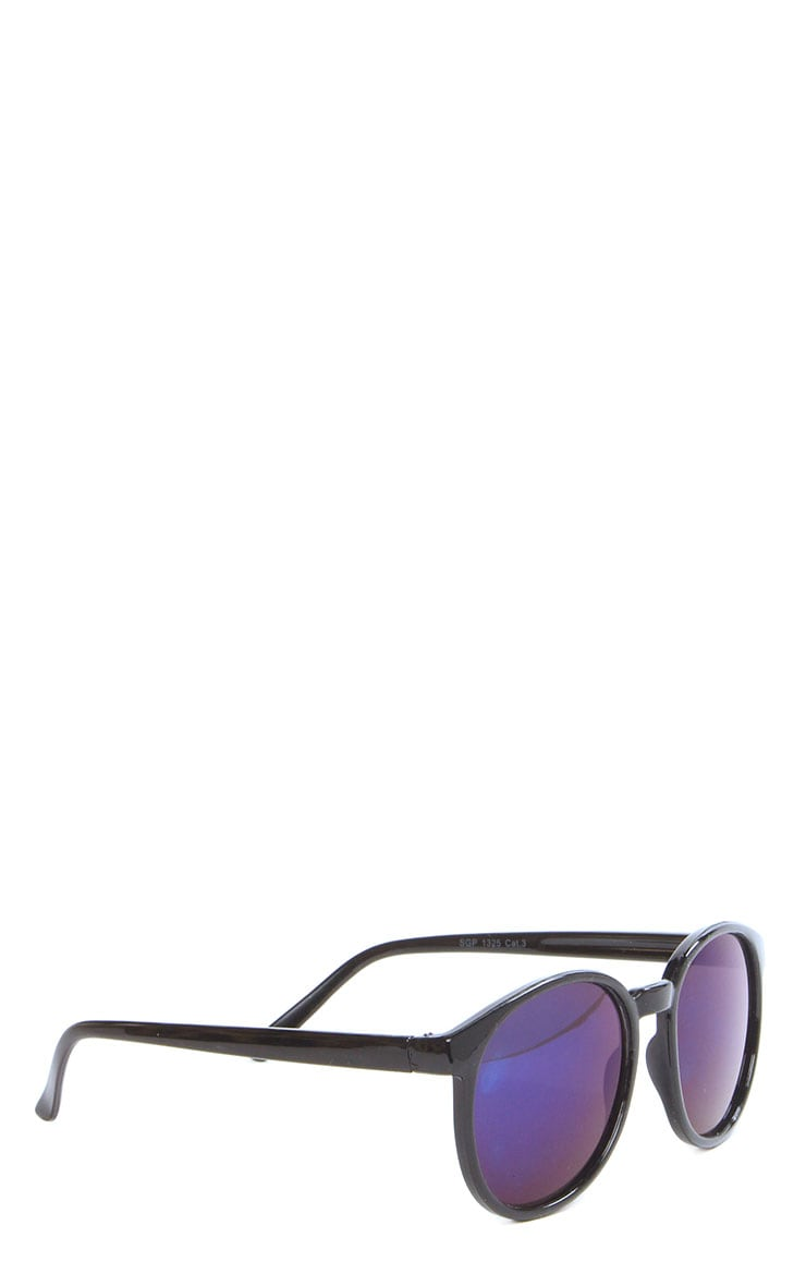 Elva Blue Mirrored Wayfarer Sunglasses 5