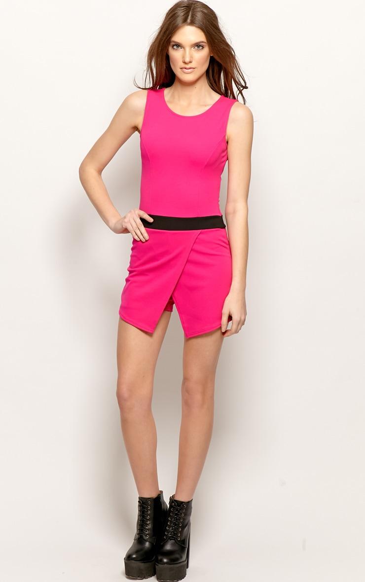 Tessie Fuchsia Pink Skort Playsuit 4