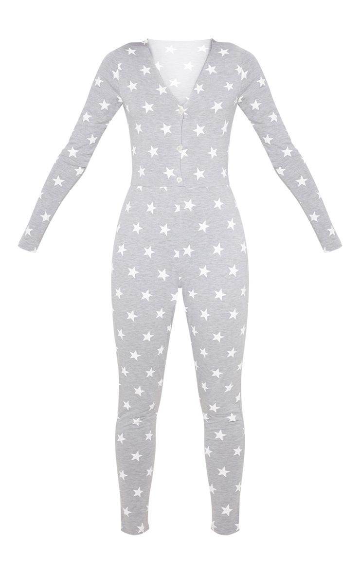 Grey Star Print Onesie 3