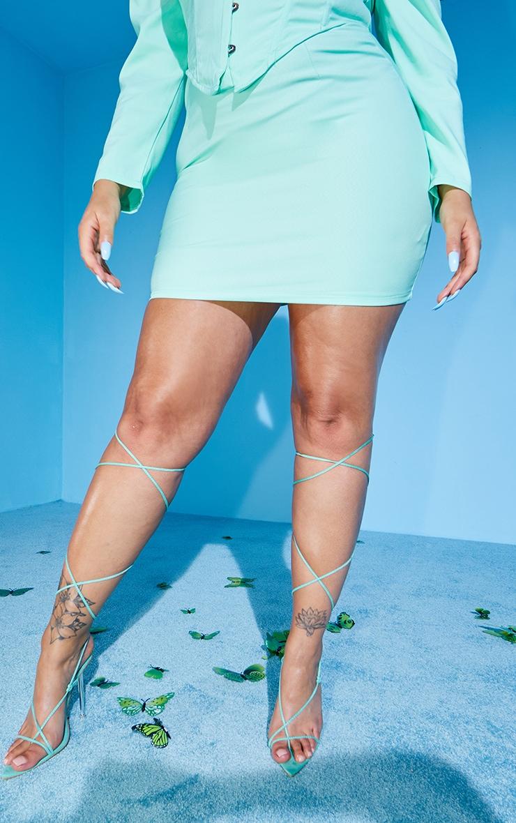 PLT Plus - Mini-jupe en maille tissée menthe 2