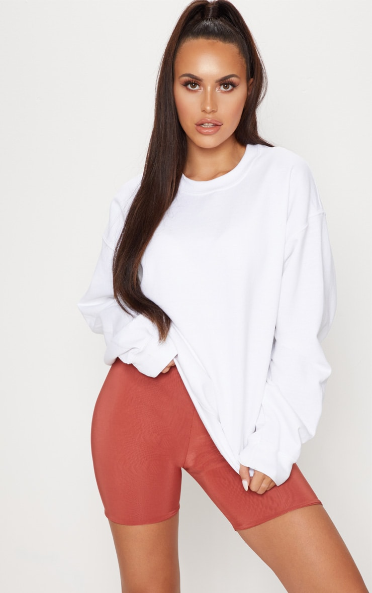 White Oversized Oversized Ultimate SweaterPrettylittlething White Ultimate P80nwOk