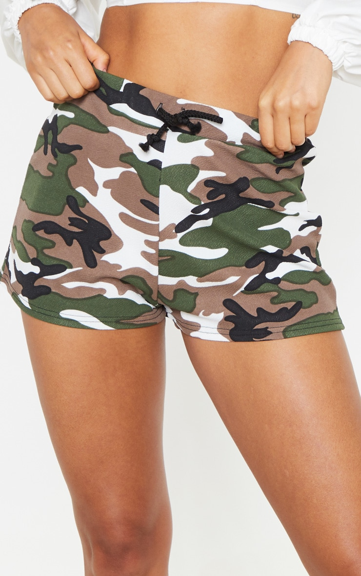 Grey Camo Drawstring Waist Short 6