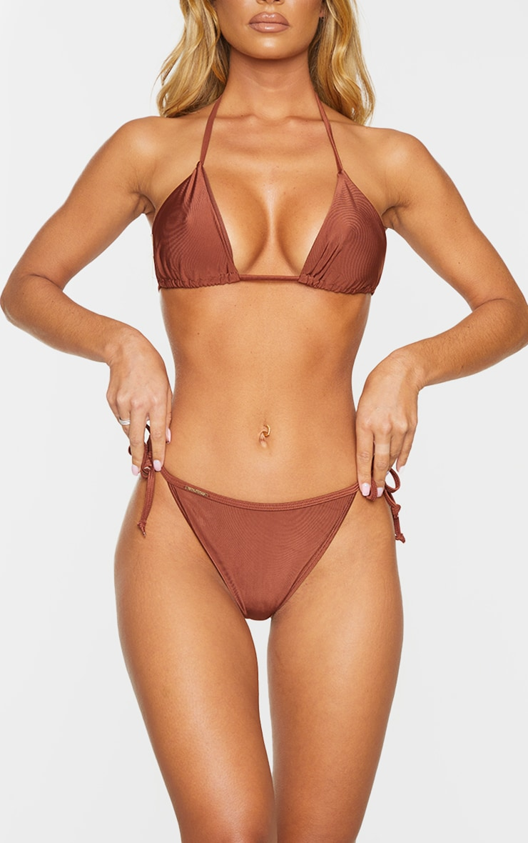 Deep Brown Mix & Match Tie Side Bikini Bottom 4