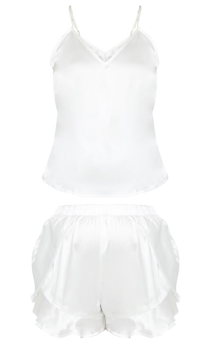 Ivory Satin Cami & Flippy Short PJ Set 3