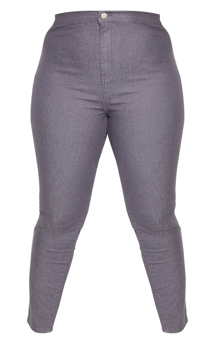 Plus Charcoal Stretch Jegging 3