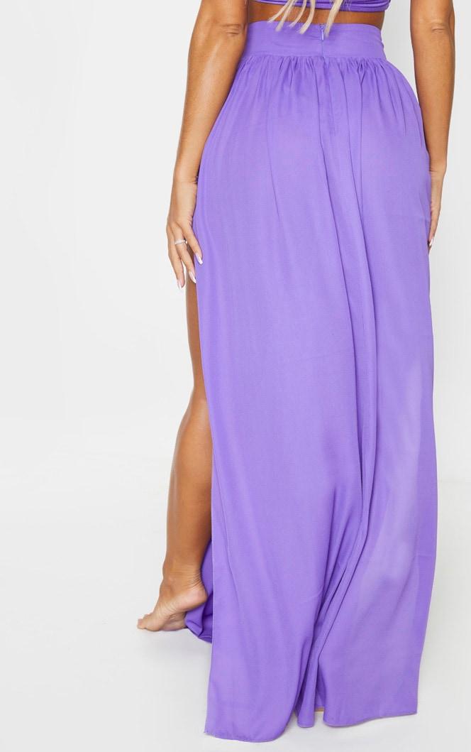 Purple Chiffon Diamante Jewel Beach Skirt 3
