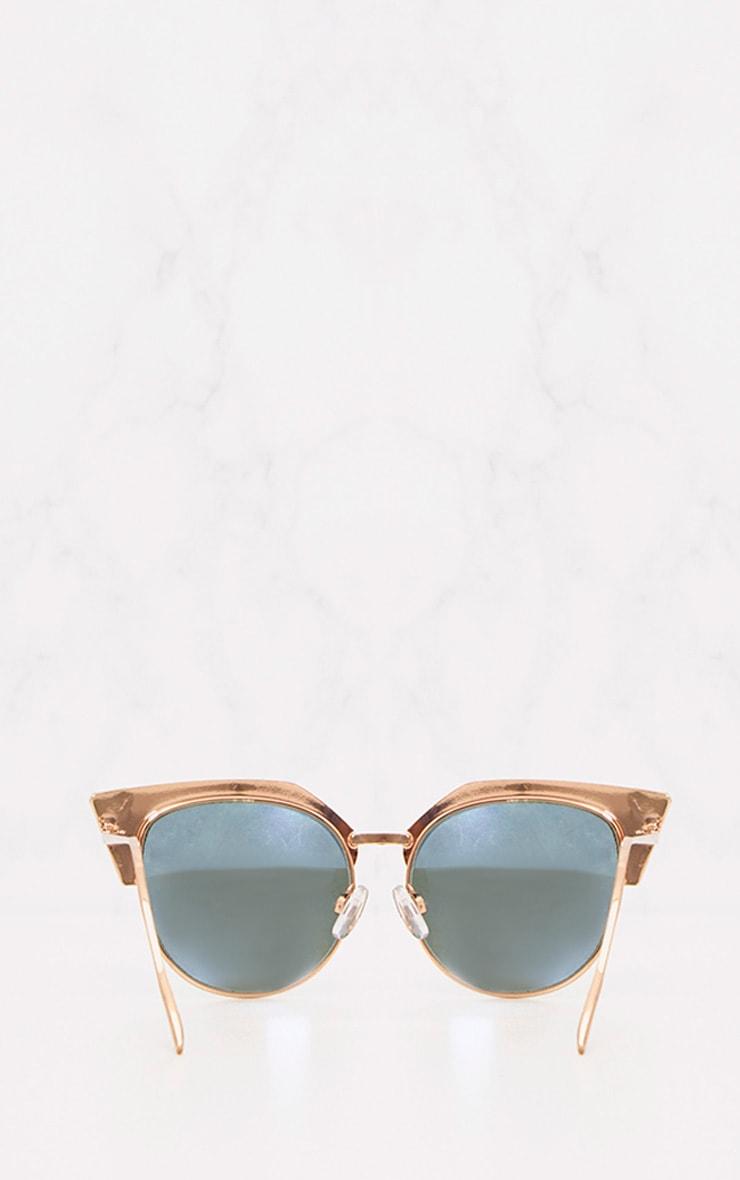 Green Retro Cat Eye Sunglasses 4