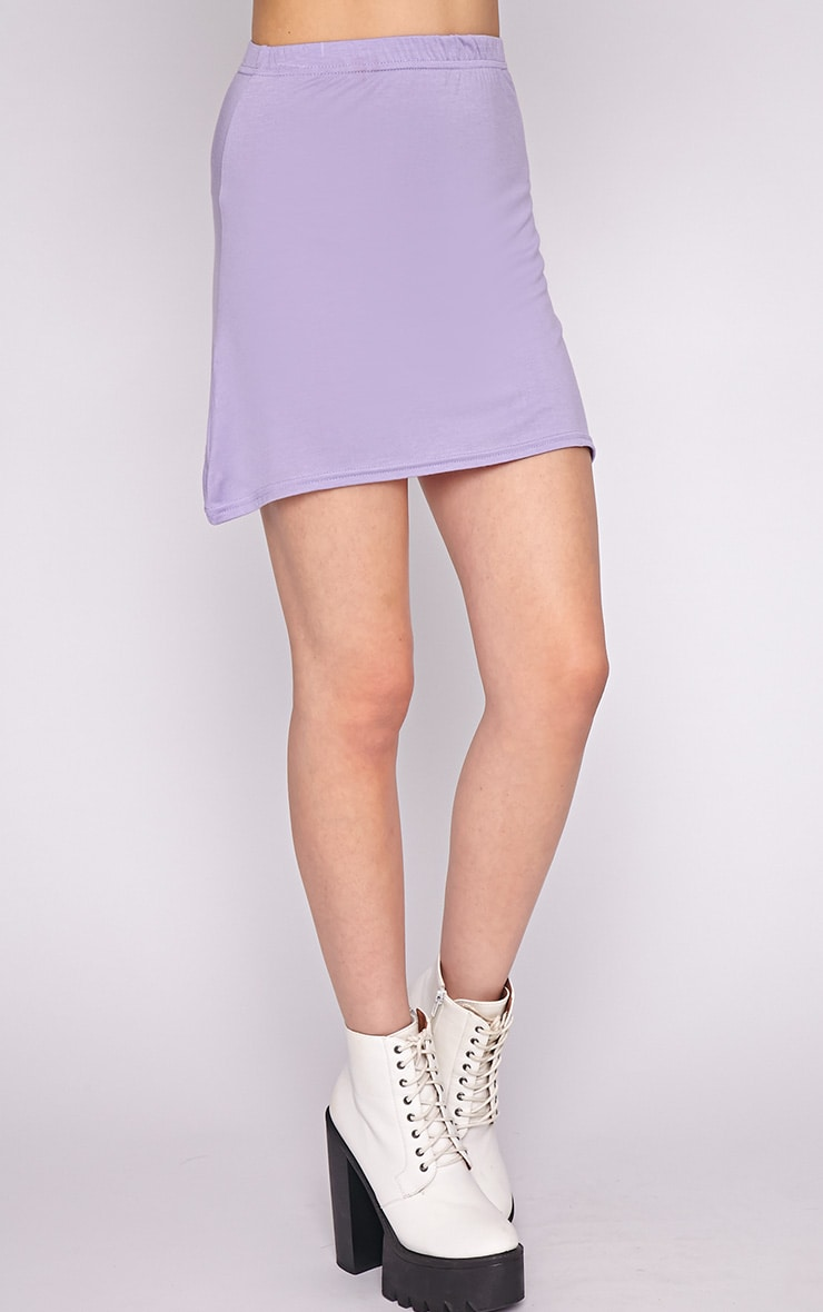 Erika Lilac A Line Mini Skirt  3
