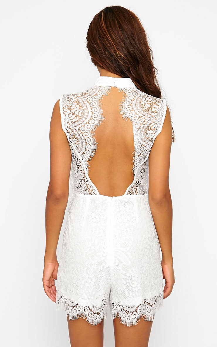 Xara White Lace Playsuit 2