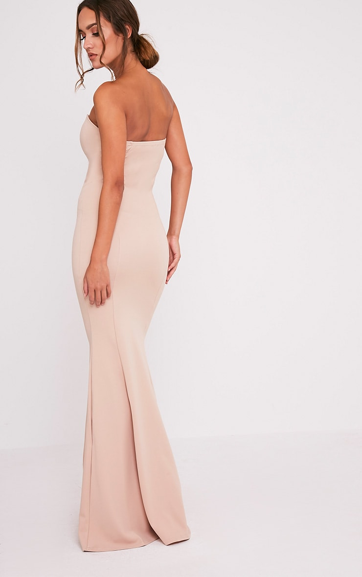 Wendie Nude Sweetheart Fishtail Maxi Dress 5