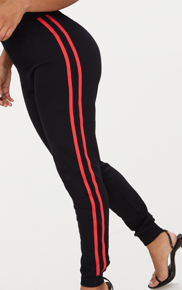 Shape  Black Side Stripe Joggers 4