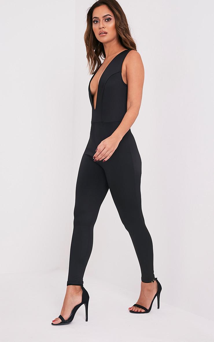 245143def26b Adalynn Black Plunge Scuba Jumpsuit - Jumpsuits   Playsuits ...