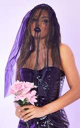 Black Veil on Hair Band 1