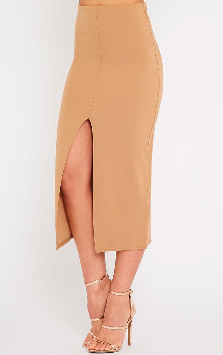 Kaja Camel Scuba Split Skirt 3