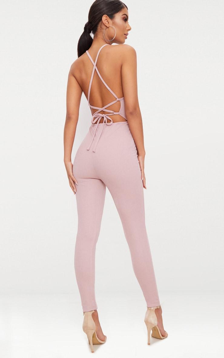 Rose  Strappy Back Jumpsuit  1