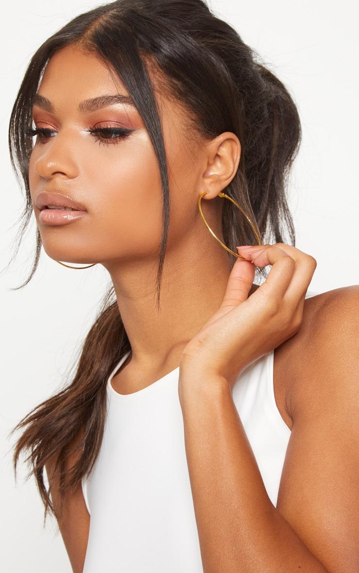 Boucles d'oreilles créoles dorées 2