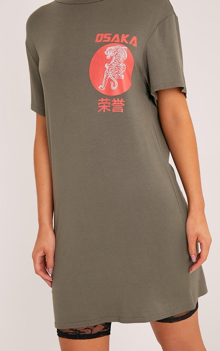 Osaka Khaki Tiger T Shirt Dress 5