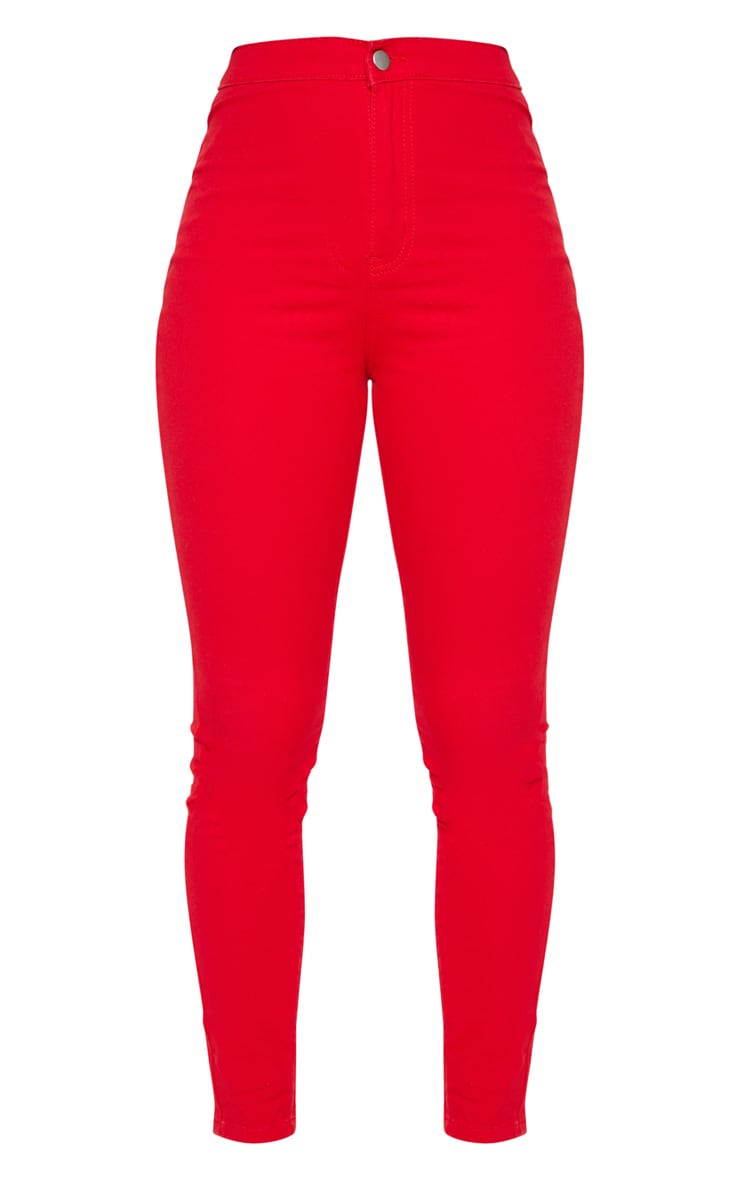Red Disco Skinny Jeans 3