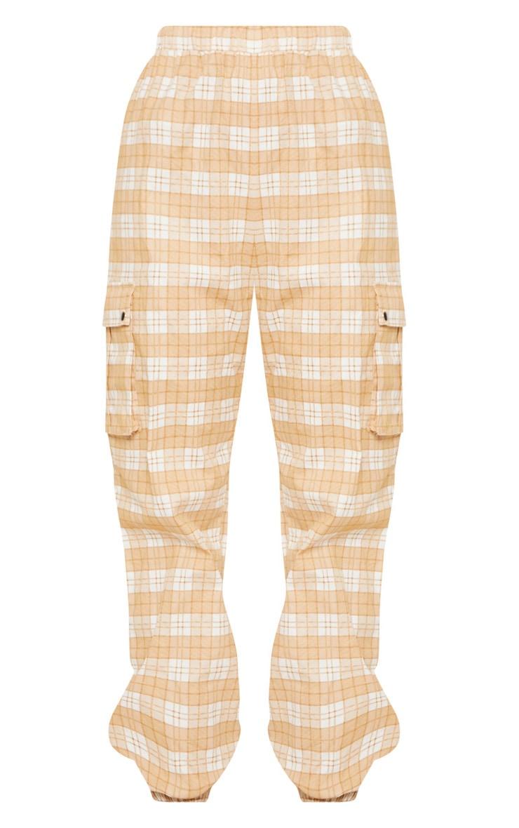 Stone Check Cargo Trouser 4