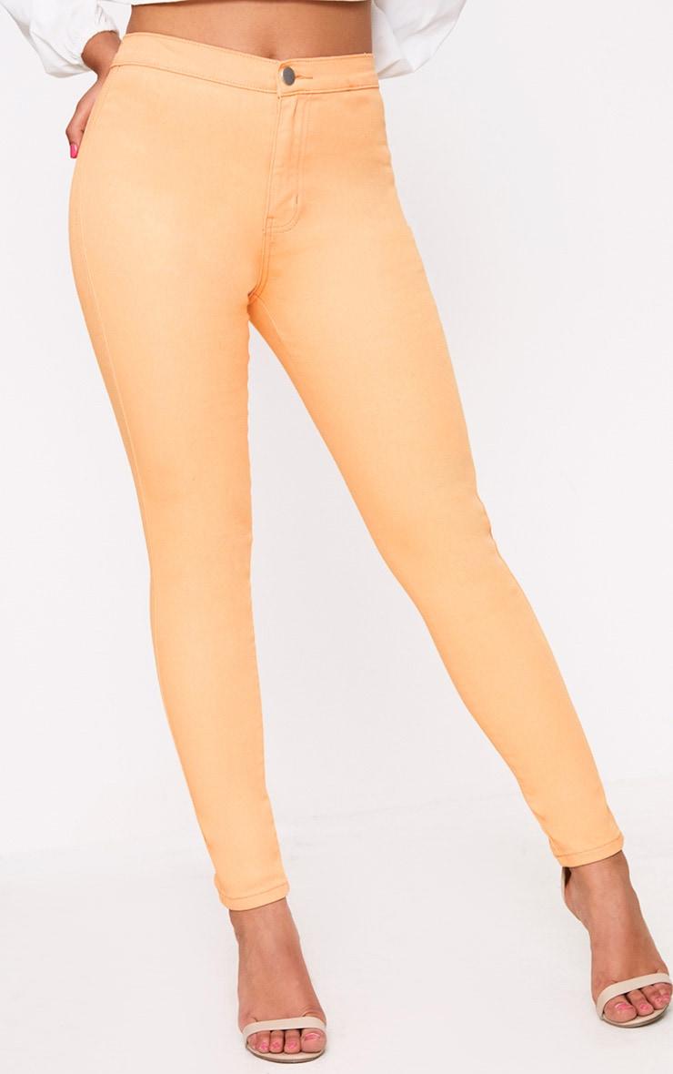 Orange Skinny Jean 2