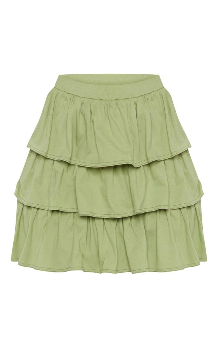 Sage Green Frill Mini Skirt 3