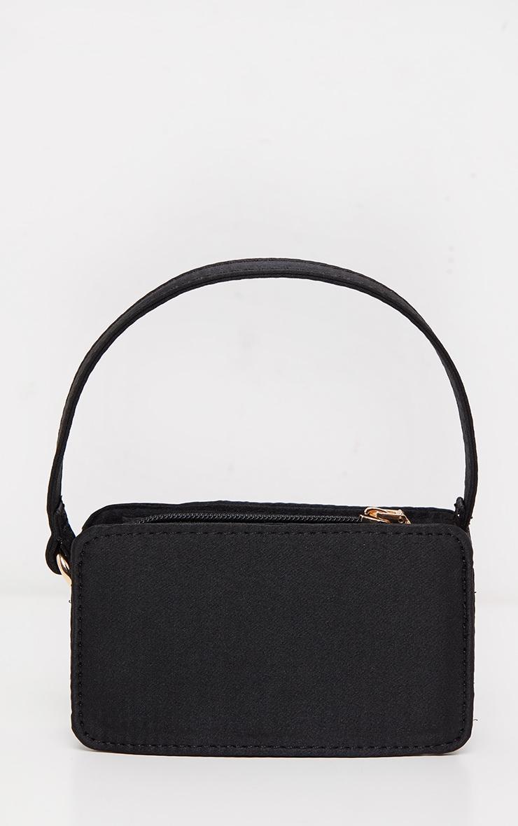 Black Satin Rectangle Micro Mini Bag     2